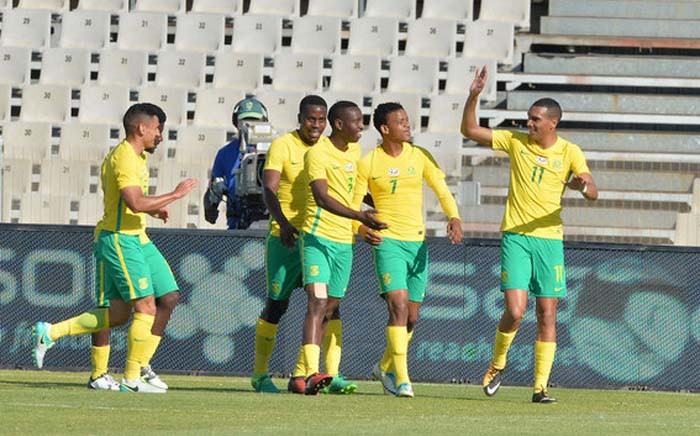 FILE: Bafana Bafana players celebrate a goal. Picture: safa.net