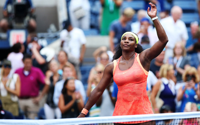 FILE: Serena Williams of the United States reacts after defeating Kiki Bertens of the Netherlands during their Womens Singles Second Round match on Day Three of the 2015 US Open at the USTA Billie Jean King National Tennis Center on 2 September 2015. Picture: AFP.