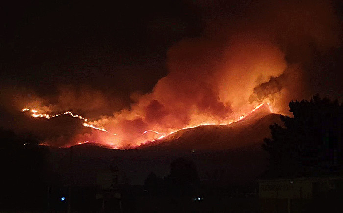 At least seven people have been killed following a blaze in the Karatara area, in George. Picture: @wo_fire /Twitter