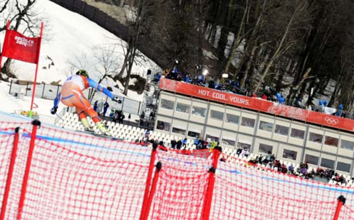 Norway's Kjetil Jansrud competes during the Men's Alpine Skiing Downhill during the Sochi Winter Olympics. Picture: AFP.