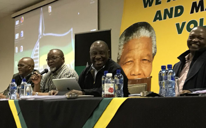 ANC president Cyril Ramaphosa leads discussions at the party's NEC meeting in Centurion on 27 May 2018. Picture: @MYANC/Twitter