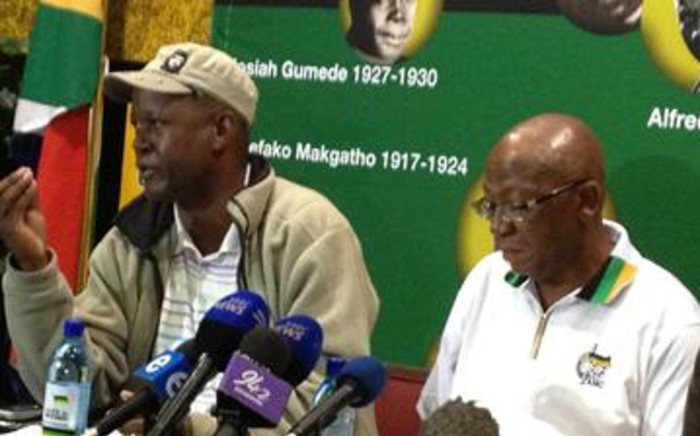 Members of the Umkhonto weSizwe Military Veterans Association, including Chairperson Kebby Maphatsoe (right). Picture: EWN.