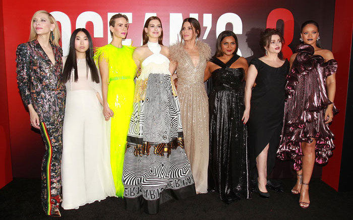 The cast of 'Oceans 8' at the New York premiere on 5 June 2018. Picture: @oceans8movie/Twitter