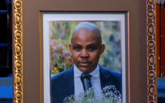 David Kekana's memorial and funeral the Rhema Bible Church in Randburg. Picture: YouTube screengrab.