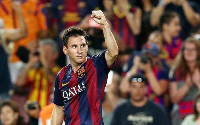 Lionel Messi scored twice to seal a 3-0 win over Bayern Munich in the first leg of the Champions League semis on 6 May 2015. Picture: @FCBarcelona