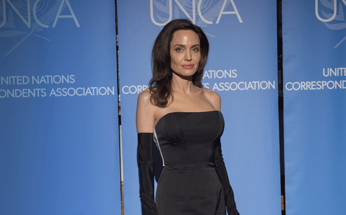 FILE: Angelina Jolie, special envoy of the United Nations High Commissioner for Refugees (UNHCR), during the 2017 Annual Awards Dinner and Dance of the UN Correspondents Association (UNCA). Picture: United Nations