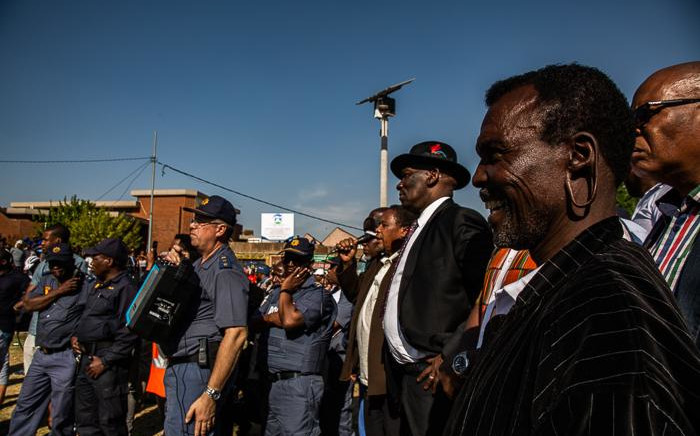 Police Minister Bheki Cele addresses community members in Jeppestown following unrest on 2 September 2019. Picture: Kayleen Morgan/EWN