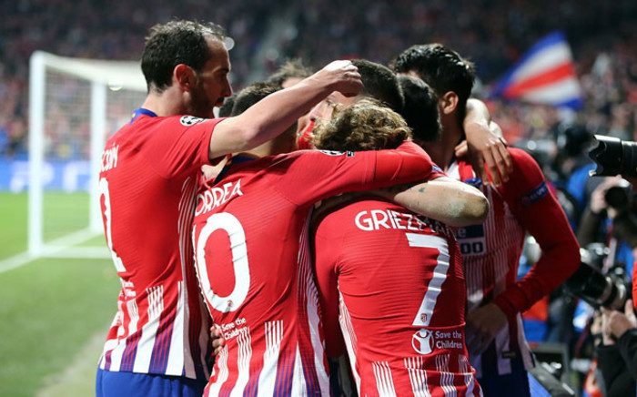 Atletico Madrid players celebrate a goal in their UEFA Champions League match against Juventus on 20 February 2019. Picture: @atletienglish/Twitter