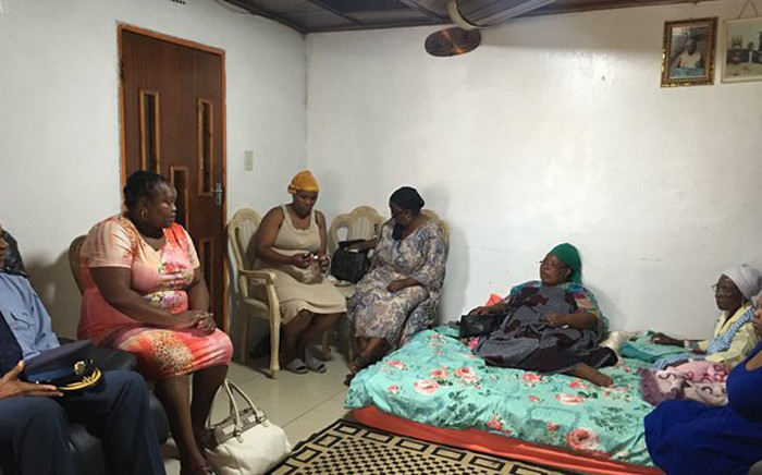 MEC Nkosi-Malobane visits the bereaved family in Katlehong. Picture: Mia Lindeque/EWN