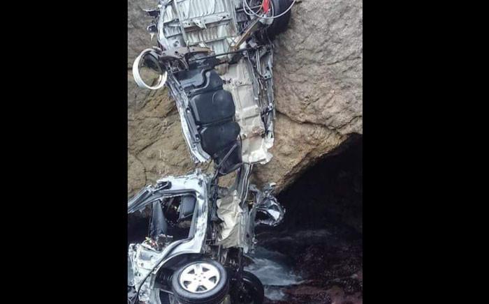 The wreckage of the vehicle was found in Herolds Bay. Picture: Supplied.