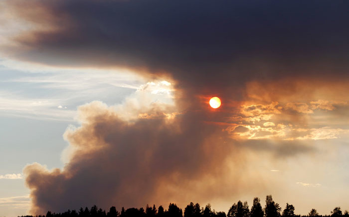 Fire burns in Karbole, Sweden, on 15 July, 2018. Due to the dry weather, many wildfires burned in Sweden. Picture: AFP