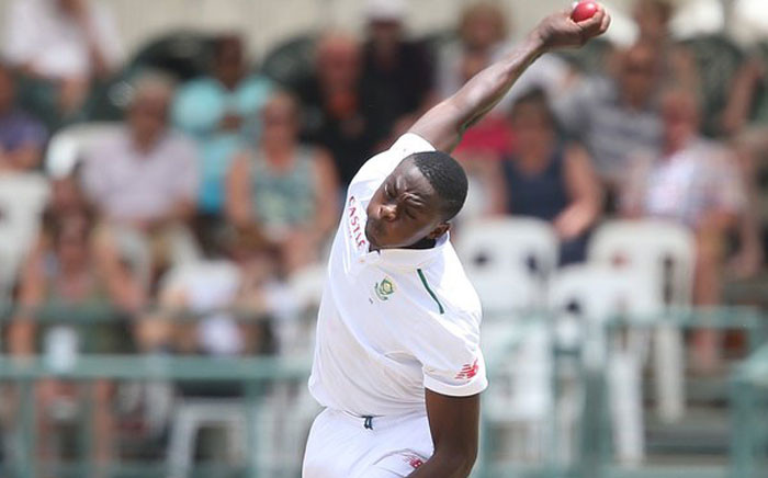 FILE: Proteas' Kagiso Rabada during the Test against England in January 2016. Picture: @OfficialCSA.