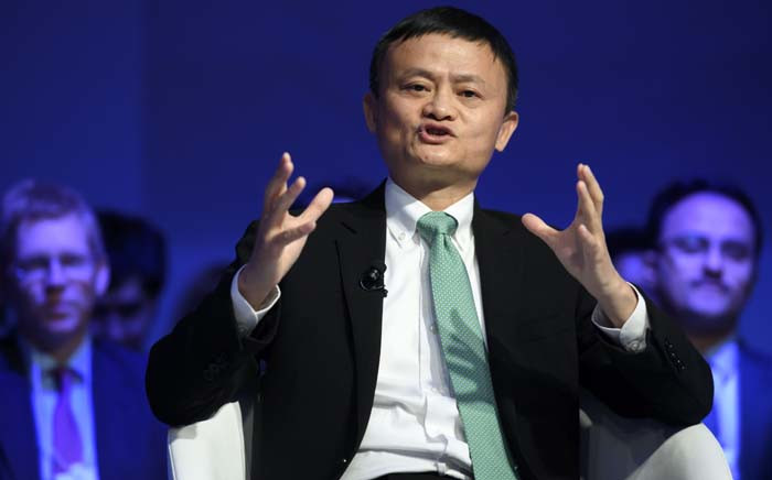 FILE: Alibaba Group Founder and Executive Chairman, China's Jack Ma speaks during a panel session on the second day of the World Economic Forum, on January 18, 2017 in Davos. Picture: AFP