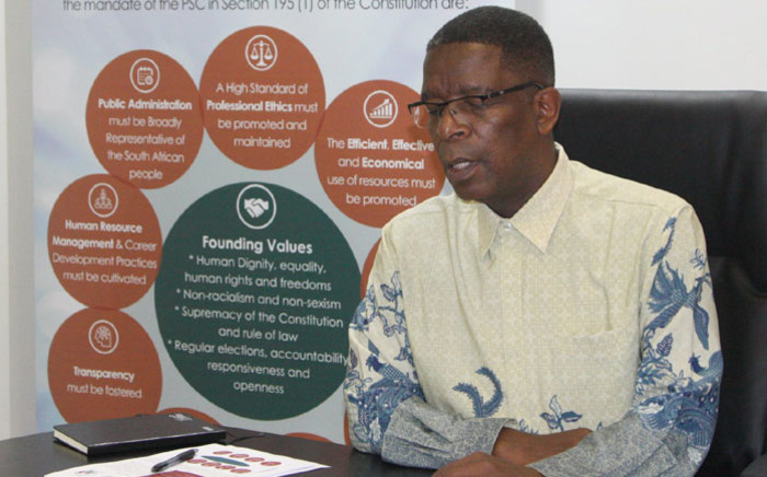 Michael Seloane, the commissioner for the Public Service Commission. Picture: @OPSC_SA/Twitter