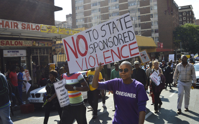 FILE. Thousands of people took part in the anti-xenophobia march, calling for end to attacks on foreign nationals in Johannesburg on 23 April 2015. Picture: Emily Corke/EWN.