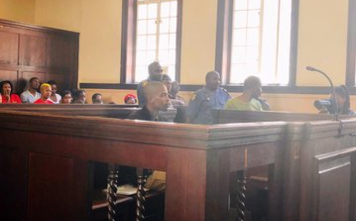 Convicted Fees Must Fall activist Kanya Cekeshe at the Johannesburg Magistrates Court on 9 October 2019. Picture: @EFFStudents/Twitter