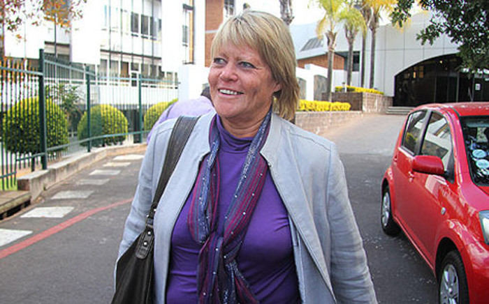 Suspended NPA prosecutor Glynnis Breytenbach walks out of the NPA offices in Silverton on 19 June 2012. Picture: Mandy Wiener/EWN