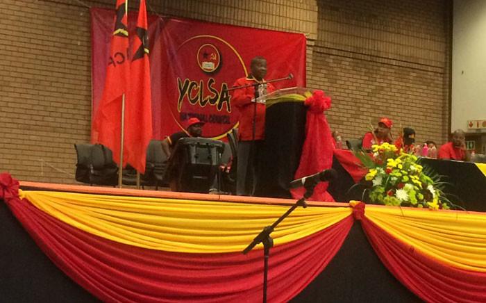 SACP General Secretary Blade Nzimande addressing the YCLSA at its 3rd National Council in Soweto. Picture: Masa Kekana/EWN.