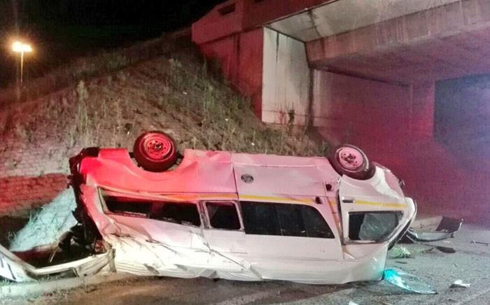 A taxi accident in Constantia Kloof, Roodepoort on Sunday 17 December. 2017. Twitter/@Netcare911_sa
