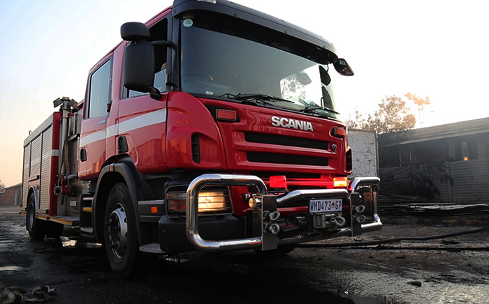 F8ILE: A firetruck at the scene of a fire. Picture: Reinart Toerien/EWN.