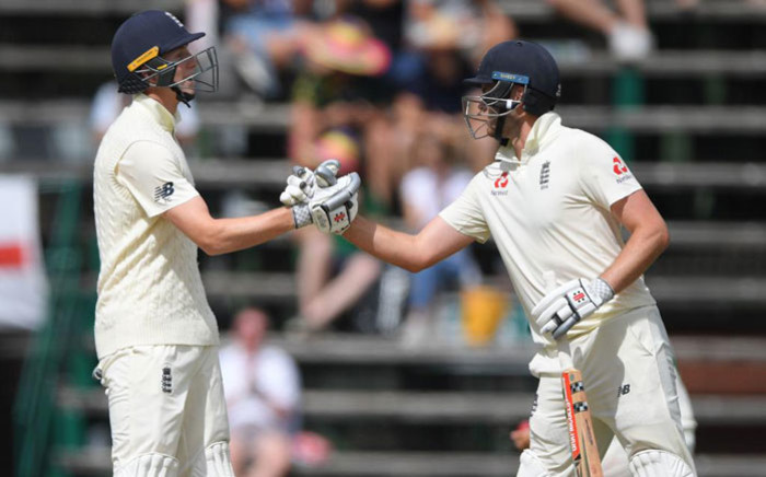 Zak Crawley and Dom Sibley during day one of the fourth Test against South Africa at the Wanderers Stadium in Centurion, Johannesburg on 24 January 2020. Picture: @englandcricket/Twitter