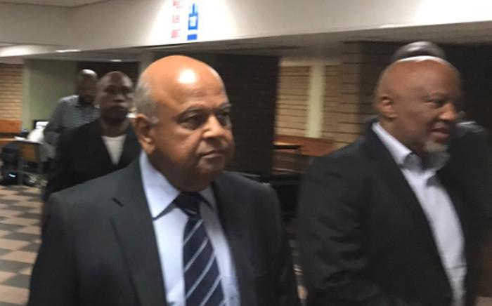 Pravin Gordhan and Mcebisi Jonas at the Pretoria High Court on 28 March 2017. Picture: Barry Bateman/EWN.