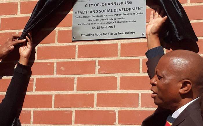 Johannesburg Mayor Herman Mashaba pictured at the Golden Harvest Inpatient Treatment Centre  on 18 June 2018. Picture: @cojhealth/Twitter
