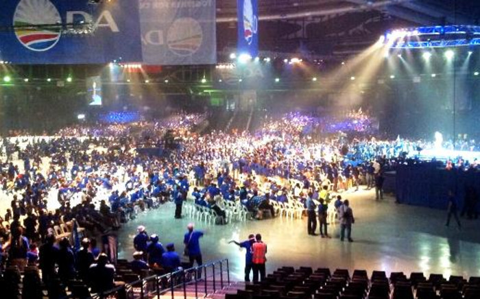 The Coca-Cola dome in Northgate, Johannesburg, is filled with thousands of Democratic Alliance supporters at the party's final election rally, 3 May 2014. Picture: Stephen Grootes/EWN.