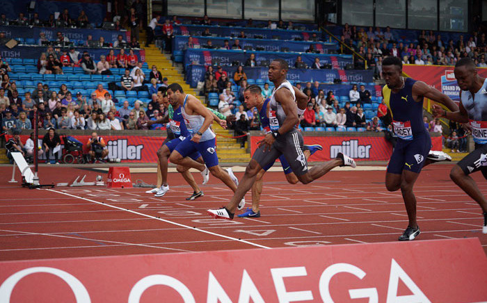 Yohan Blake of Jamaica edged Britain's Adam Gemili in a photo-finish to win the 100 metres at the Birmingham Diamond League meeting on 18 August 2019. Picture: @Diamond_League/Twitter