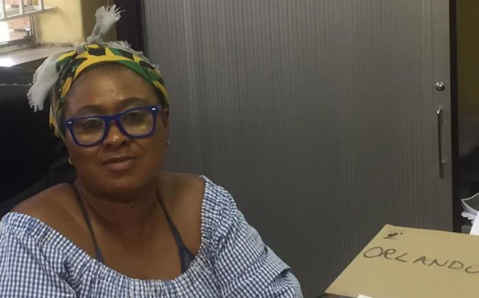 Orlando Secondary School Principal Thomzana Mrwetyana. Picture: Ahmed Kajee/EWN