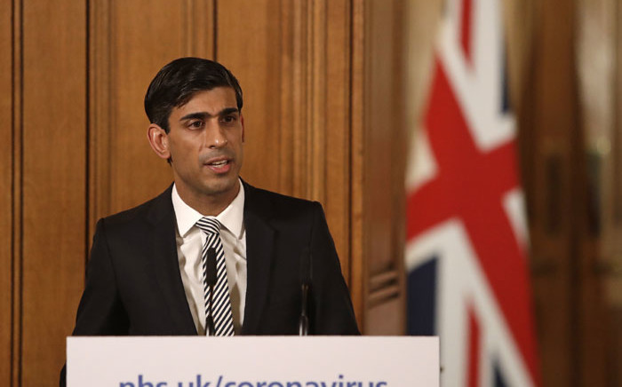 FILE: Britain's Chancellor of the Exchequer Rishi Sunak speaks at a news conference, addressing the government's response to the novel coronavirus outbreak, inside 10 Downing Street in London on 17 March 2020. Picture: AFP