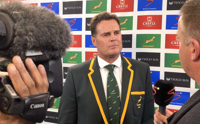 Springbok coach Rassie Erasmus. Picture: @Springboks/Twitter.