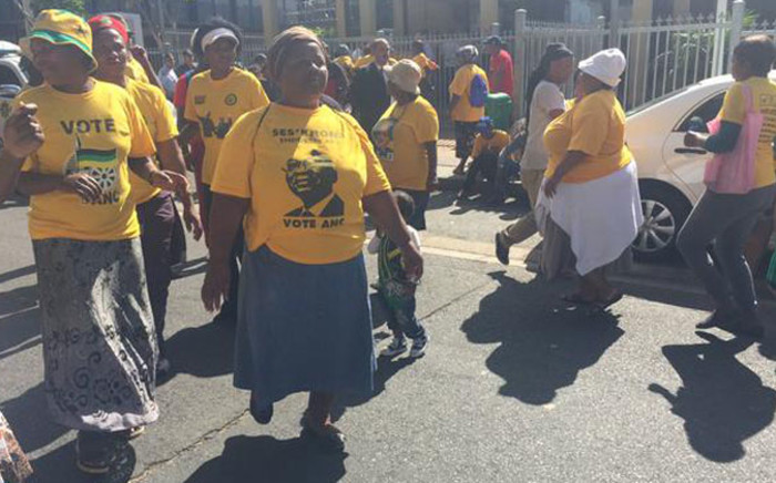 FILE: Ses'khona members marched for land, housing and service delivery. Picture: Siyabonga Sesant/EWN.