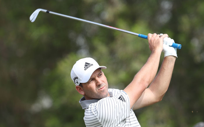 Sergio Garcia of Spain plays his shot during the first round of the Omega Dubai Desert Classic at the Emirates Golf Club on 24 January 2019 in Dubai. Picture: AFP
