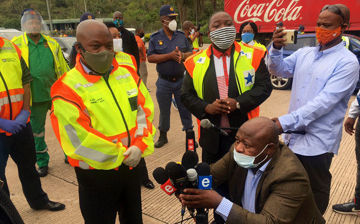 KZN Premier Sihle Zikalala says authorities have arrested over 800 people since the start of level 4 regulations. Picture: Nkosikhona Duma/Twitter.