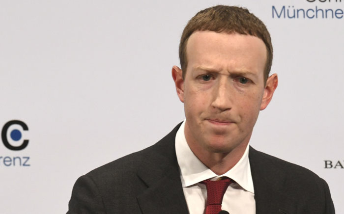 FILE: The founder and CEO of Facebook Mark Zuckerberg speaks during the 56th Munich Security Conference (MSC) in Munich, southern Germany, on 15 February 2020. Picture: AFP