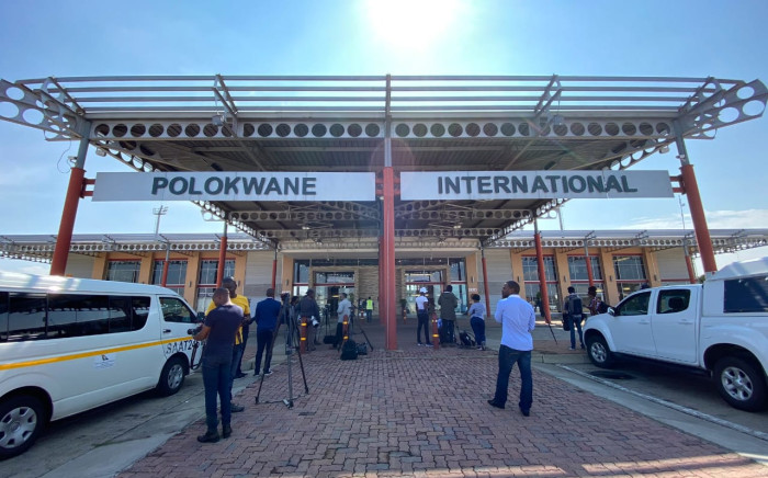 Media waits at the Polokwane International Airport where a group of over 100 South Africans repatriated from Wuhan in China arrived before going to the Ranch Resort. Picture: Abigail Xavier/EWN