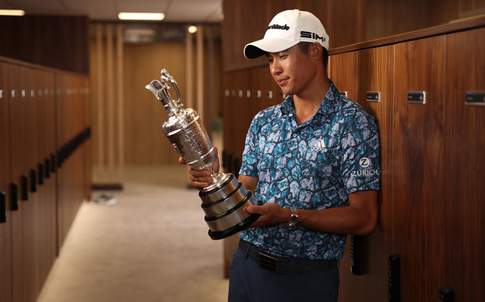 Collin Morikawa won the 2021 British Open on 18 July 2021. Picture: @TheOpen/Twitter