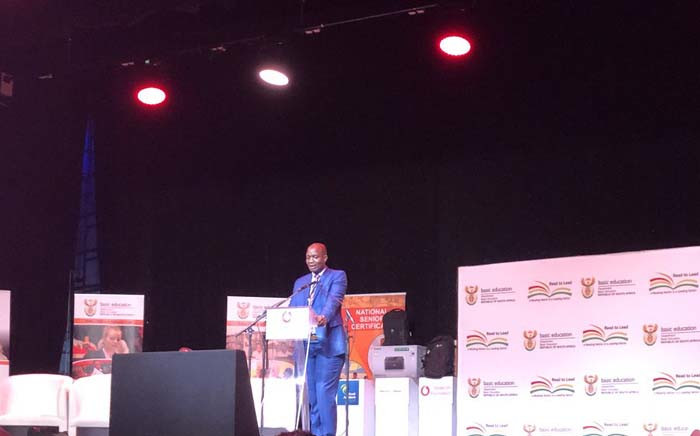 Director-general at the Department of Basic Education Mathanzima Mweli gave a technical briefing on 3 January 2018 ahead of the release of 2018 matric results. Picture: @DBE_SA/Twitter