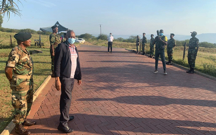 FILE: ANC secretary general Ace Magashule arrives in Nkandla for his visit to former President Jacob Zuma on 15 April 2021. Picture: Supplied.
