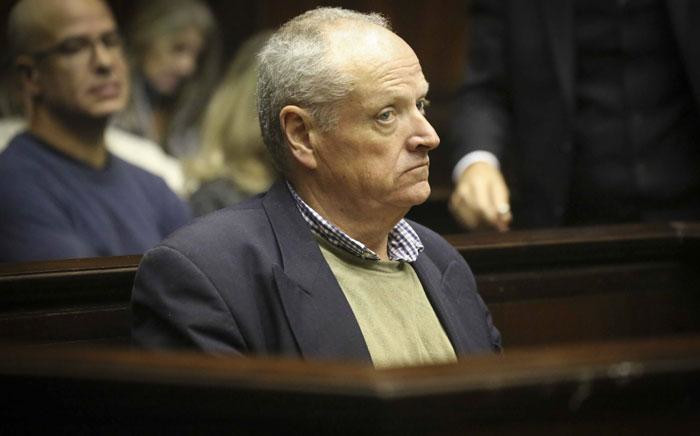 Rob Packham pictured in the Western Cape High Court on Wednesday, 12 June 2019, after being sentenced to 22 years in prison for his wife's murder. Picture: Cindy Archillies/EWN