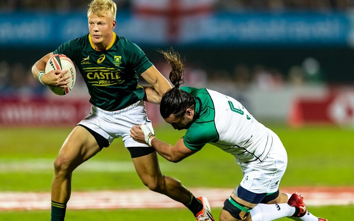Blitzbok playing at the Las Vegas Sevens on 01 March 2019.