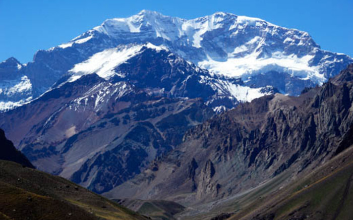 Mount Aconcagua is just one of the spectacular sights Dakar Participants will take in during the 2014 edition of the rally. Picture: AFP.