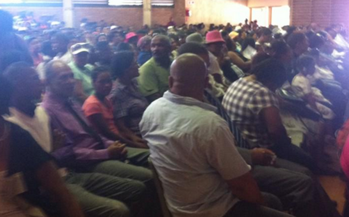 Those who've gathered at the Bredasdorp school to pay their last respects to the little girl. Picture: Chanel September/EWN