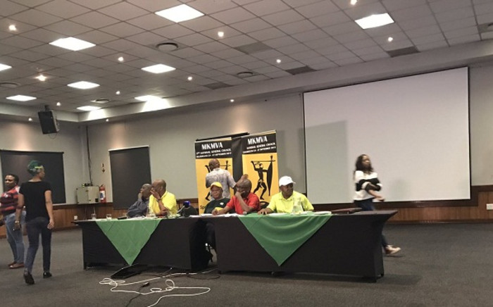 MKMVA held a briefing in Ekurhuleni following their national executive committee meeting. Picture: Clement Manyathela/EWN.