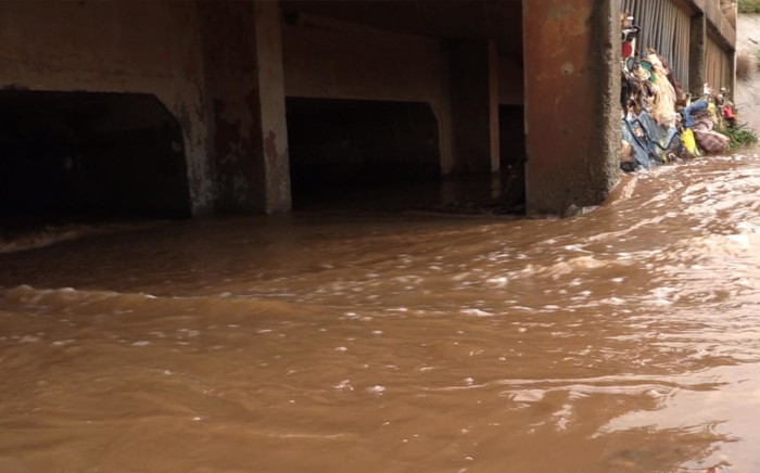 FILE: Water under a bridge after heavy rains. Picture: Eyewitness News.