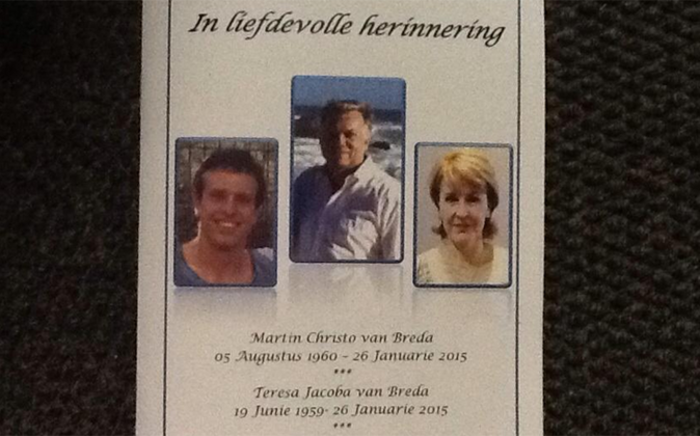FILE: The NPA says it'll take its time to study a docket on to the Van Breda family murder. Picture: Mia Lindeque/EWN