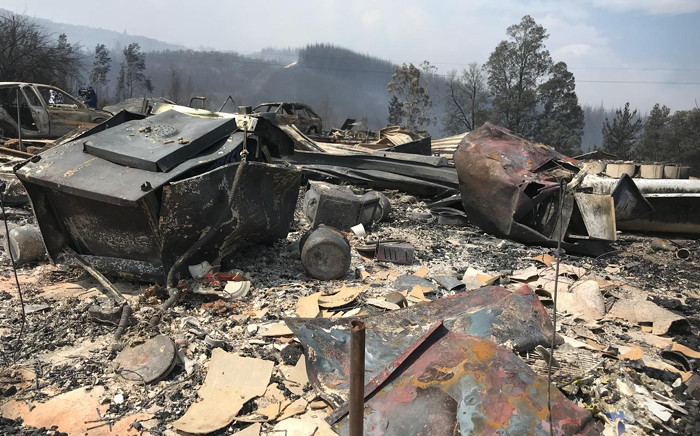 The aftermath of a fire which destroyed 13 houses in Farleigh Forest in Karatara in the Southern Cape on 30 October 2018. Picture: Monique Mortlock/EWN