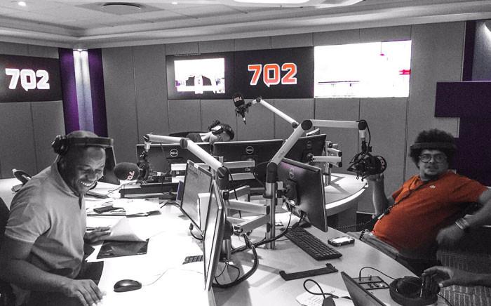 Joey Rasdien in studio with Xolani Gwala. Picture: 702