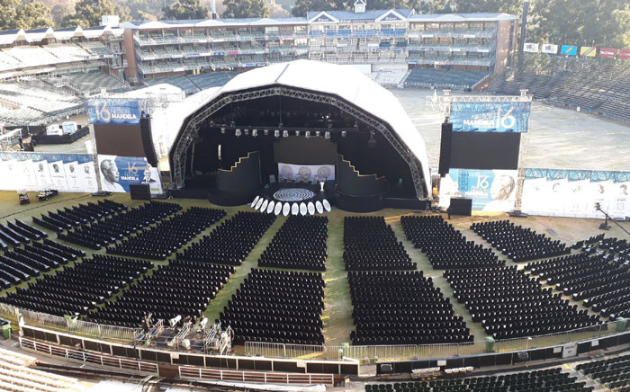 A general view of Wanderers Stadium in Illovo ahead of the start of the 16th Nelson Mandela Annual Lecture. Picture: EWN